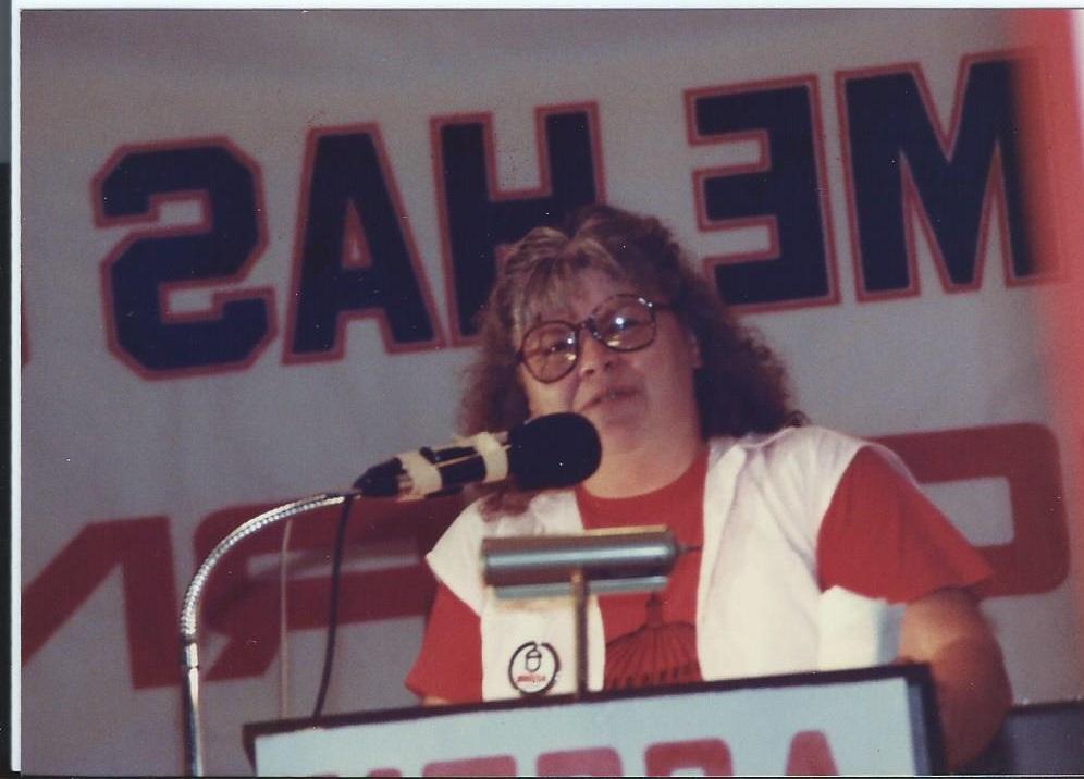 Elena Hanggi  ACORN Preisdent in 1978